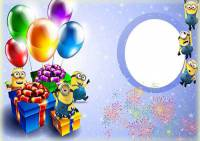 طرح لایه باز قاب عکس و فریم برای فتوشاپ با موضوع جشن شادی (شماره 2)