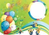 طرح لایه باز قاب عکس و فریم برای فتوشاپ با موضوع جشن شادی